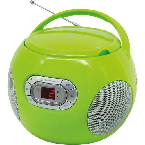 CD-Player mit UKW-Radio + Hörbuchfunktion, grün