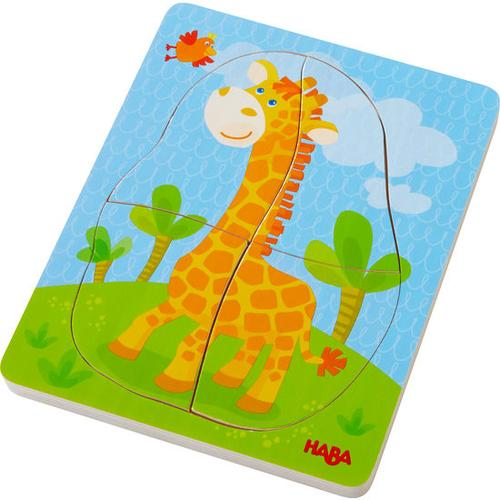 HABA Holzpuzzle Wildtiere, bunt