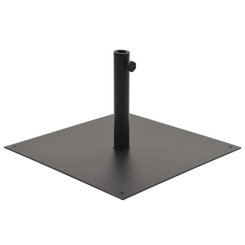 vidaXL Sonnenschirmständer Schwarz Stahl Quadratisch 17 kg