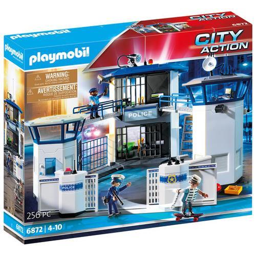 PLAYMOBIL® City Action 6872 Polizei-Kommandozentrale mit Gefängnis, bunt