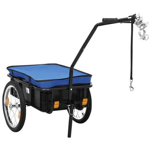 vidaXL Fahrradanhänger/Handwagen 155 x 61 x 83 cm Stahl Blau