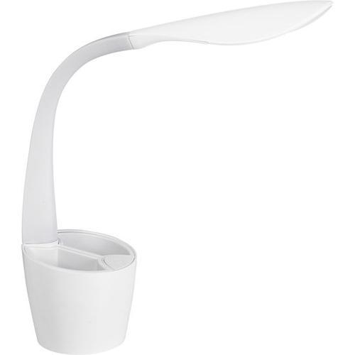 Schreibtischlampe mit Stiftehalter, weiß