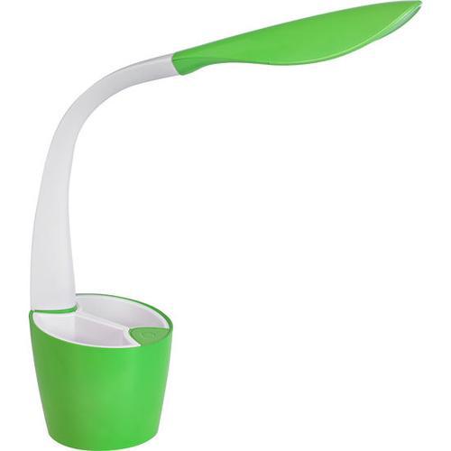 Schreibtischlampe mit Stiftehalter, grün