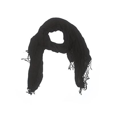 Peach Couture Scarf: Black Solid Accessories