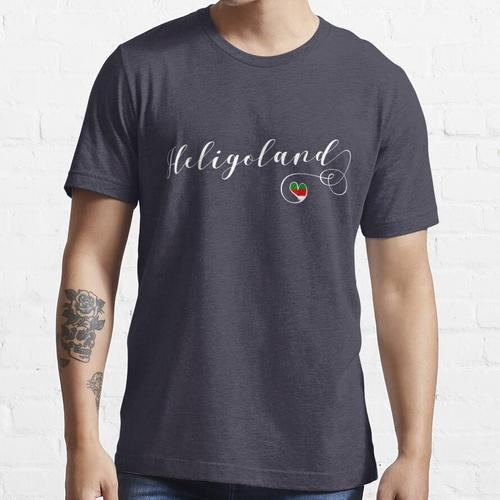Herz Helgoland Flagge, Deutschland, Helgoland Essential T-Shirt