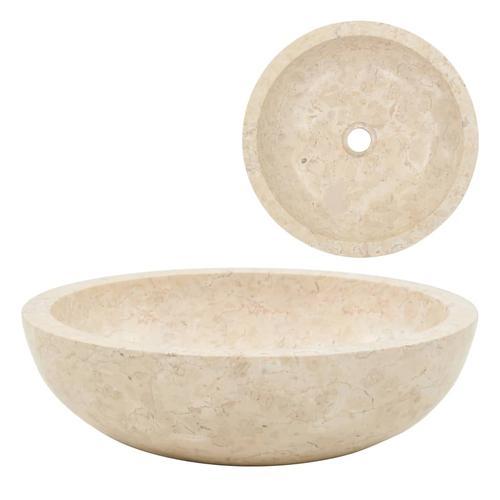 vidaXL Waschbecken 40 x 12 cm Marmor Creme