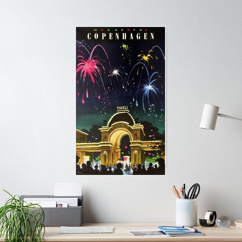 Tivoli Gärten Poster