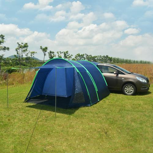 vidaXL Campingzelt 390×330×195 cm Blau
