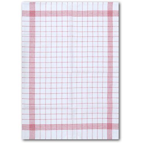 Dyckhoff Geschirrtuch KARO / Halbleinen - 50x70 cm rot Geschirrtücher Küchenhelfer Haushaltswaren