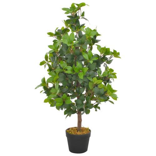 vidaXL Künstliche Pflanze Lorbeerbaum mit Topf Grün 90 cm