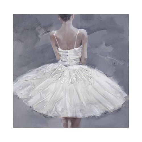 die Faktorei Struktur-Wandbild Ballerina I 100 x 100 cm