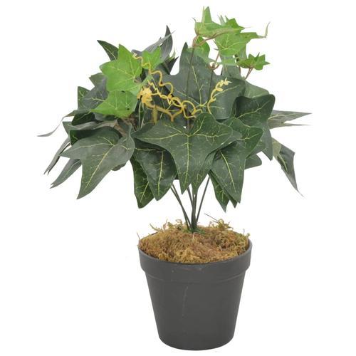 vidaXL Künstliche Pflanze Efeu mit Topf Grün 45 cm