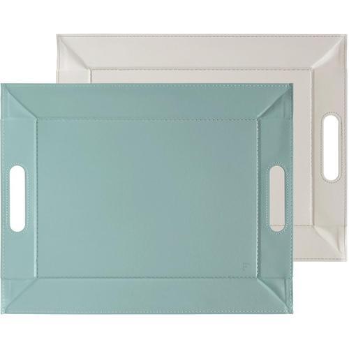 freeform Tablett, 45 x 35 cm grau Tablett Tischaccessoires Geschirr, Porzellan Haushaltswaren