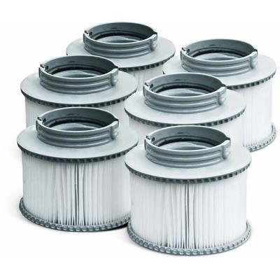 Alice's Garden - Pack de 6 filtres V1 pour spa MSPA - Camaro, Super Camaro, Alpine 4 et 6, Silver