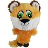 Multipet Knobby Noggins Squeaky Plush Dog Toy, Fox