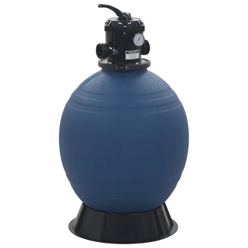 vidaXL Pool-Sandfilter mit 6-Wege-Ventil Filterkessel Blau 560 mm