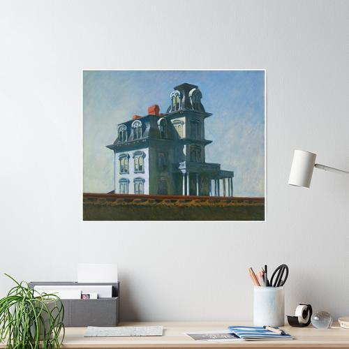 Haus bei der Eisenbahn Poster