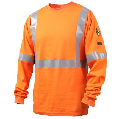 Revco Black Stallion Orange 7oz FR Knit Welding Shirt w/Reflective Tape