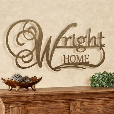 Affinity Home Personalized Metal Wall Art Sign Home, Home, Antique Gold