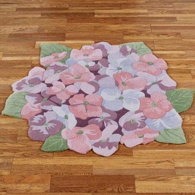 Floral Dance Round Rug Multi Pastel, 4' Round, Multi Pastel