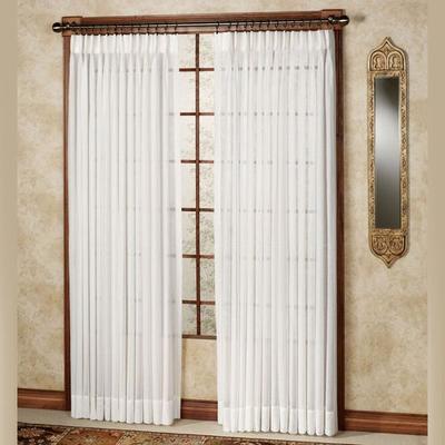 Splendor Drapery Pinch Pleat Curtain Pair, 120 x 84, Pearl