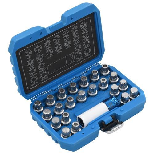 vidaXL 23-tlg. Felgenschloss-Demontagewerkzeug-Set für VAG