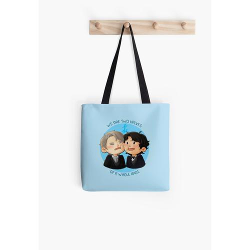 zwei Hälften Tasche