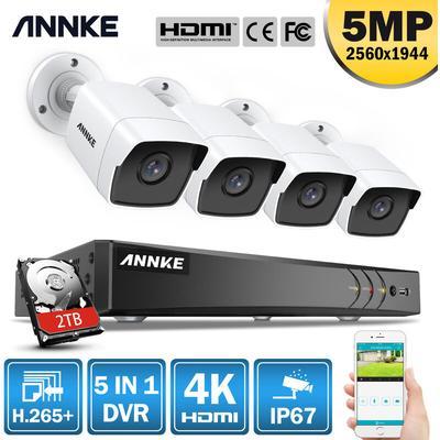 Kit de vidéosurveillance ANNKE 4K Ultra HD PoE Système de sécurité vidéo en réseau 16CH NVR de