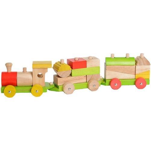 EverEarth Spielzeug-Eisenbahn, FSC-Holz aus gewissenhaft bewirtschafteten Wäldern bunt Kinder Spielzeug-Eisenbahn Holzspielzeug