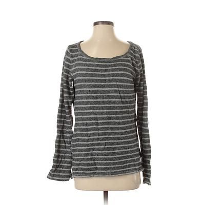 Gap Pullover Sweater: Gray Stripes Tops - Size Small