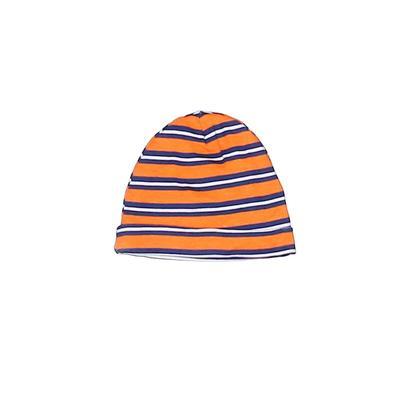 Gerber Beanie Hat: Orange Stripes Accessories - Size 0-3 Month