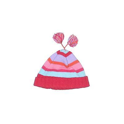 Gagou Tagou Beanie Hat: Red Stripes Accessories - Size Medium