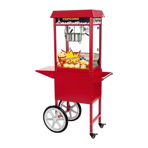 Royal Catering Popcornmaschine mit Wagen - rot RCPW-16E I MASZYNA DO POPCORNU