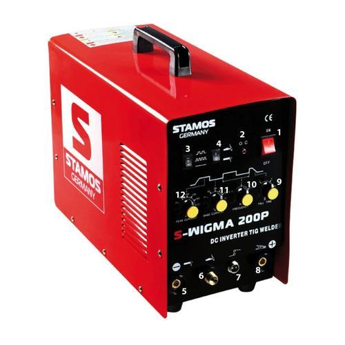 Stamos Basic WIG Schweißgerät - 200 A - 230 V - Puls S-WIGMA 200P