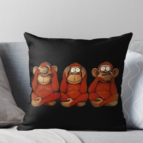 Drei Affen Kissen