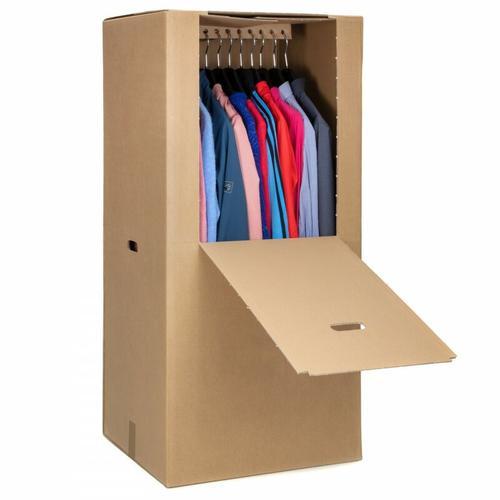 8 Kleiderbox Kleiderkarton Kleiderschachtel Box für Kleidung