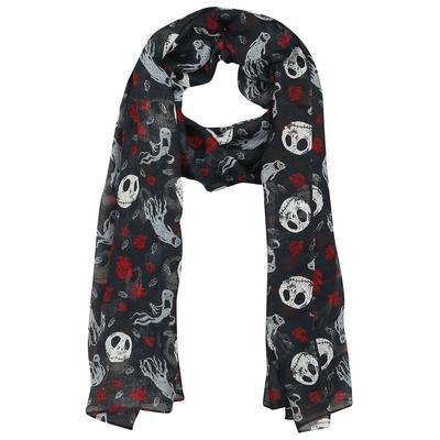 The Nightmare Before Christmas Jack Skellington - Ghost & Roses Tuch - multicolor - Offizieller & Lizenzierter Fanartikel