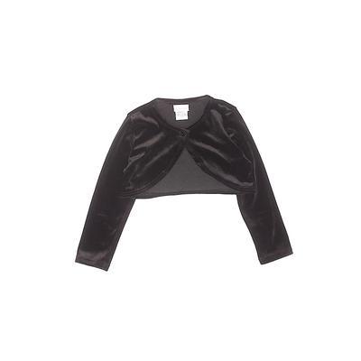 Youngland Shrug: Black Solid Top...