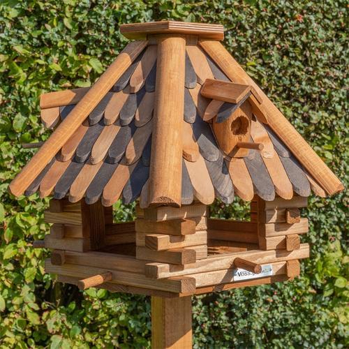 VOSS.garden LilleHus - hochwertiges Vogelhaus mit Dachschindeln