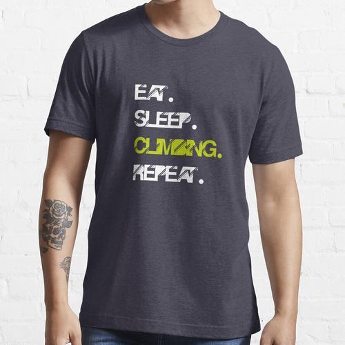 Eat Sleep Climbing Repeat Tshirt / Climbing Grades / Rock Climbing / Climb Gear / Essential T-Shirt