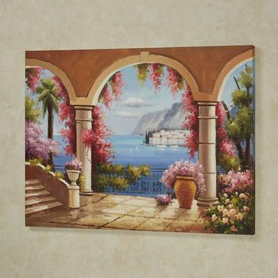 Paradise Awaits Canvas Wall Art Multi Pastel , Multi Pastel