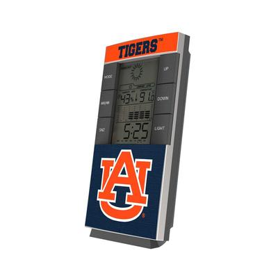 Auburn Tigers End Zone Digital Desk Clock