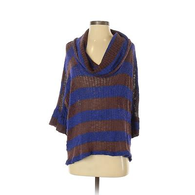 Splendid Pullover Sweater: Brown Color Block Tops - Size X-Small
