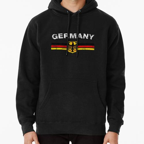German Flag Shirt - German Emblem & Germany Flag Shirt Pullover Hoodie