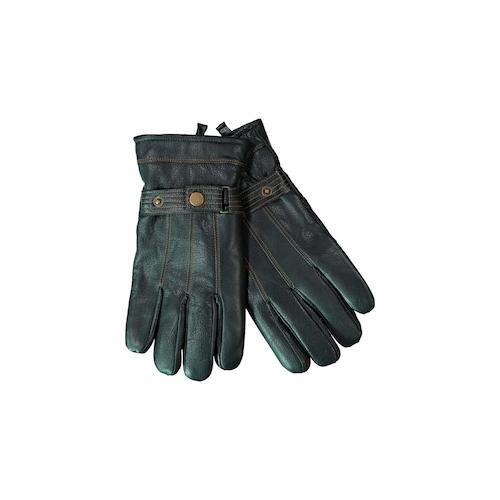 Große Größen Leder-Handschuhe Herren (Größe 11, schwarz)   JP1880 Schals & Mützen   Leder, Riegel