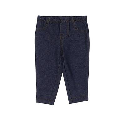 Carter's Leggings: Blue Solid Bo...