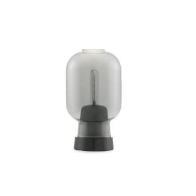 Normann Copenhagen - Smoke Grey Black Glass and Marble Amp Table Lamp - glass | Smoke Grey/Black