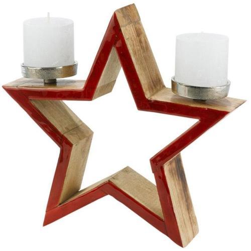 Kerzenhalter Stern, Ø 32 cm rot Kerzen Laternen Wohnaccessoires