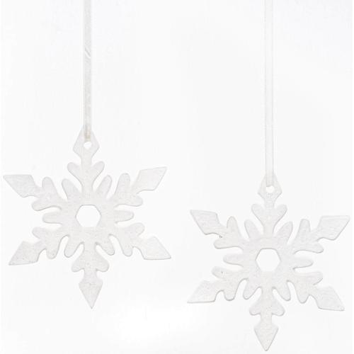 Fabriano Dekohänger Eiskristall Nerea, Ø 15 cm weiß Wanddekoration Deko Wohnaccessoires