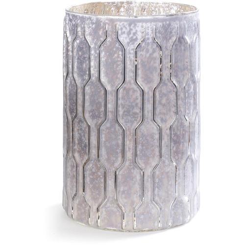 CHRISTMAS GOODS by Inge Windlicht, mit erhabener geometrischer Struktur weiß Windlicht Kerzenhalter Kerzen Laternen Wohnaccessoires